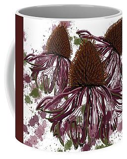 Echinacea Flowers Line Coffee Mug