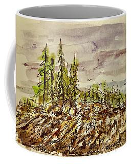 Coffee Mug featuring the painting Edge Of Glory by Barry Jones