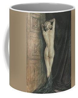 Edouard Chimot Nude In Boudoir  Coffee Mug