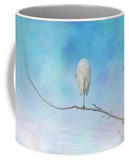 Egret On A Branch Coffee Mug