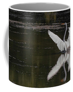 Egret Reflections Coffee Mug