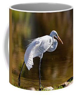 Egret Yoga Coffee Mug