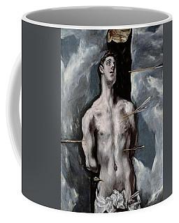 El Greco / 'saint Sebastian', 1610-1614, Spanish School, Oil On Canvas, 115 Cm X 85 Cm, P03002. Coffee Mug