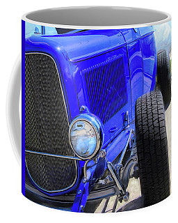 Electric Blue Hot Rod Roadster Coffee Mug