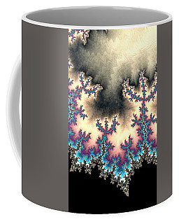 Coffee Mug featuring the digital art Electric Storm Fractal Abstract by Shelli Fitzpatrick