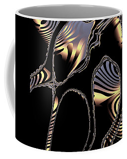 Elegant Black Fractal 1 Coffee Mug