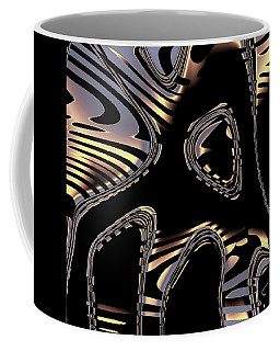 Elegant Black Fractal 2 Coffee Mug