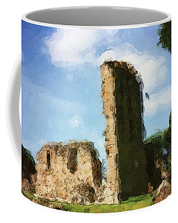 Elgin Cathedral Ruins Painting Coffee Mug