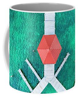 Elk Rapids Gazebo Aerial Coffee Mug