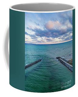 Elk Rapids Morning Clouds Aerial Coffee Mug