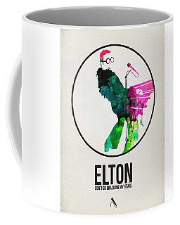 Elton Watercolor Poster Coffee Mug