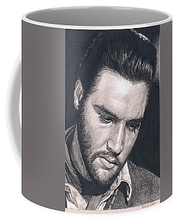 Elvis In Charcoal #195 Coffee Mug