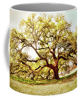 Coffee Mug featuring the photograph Emancipation Oak by Ola Allen