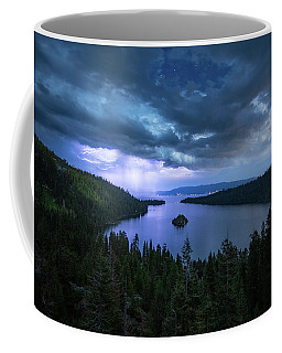 Emerald Bay Electric Skies By Brad Scott Coffee Mug