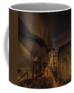 Coffee Mug featuring the photograph Emily Carr Alley by Juan Contreras