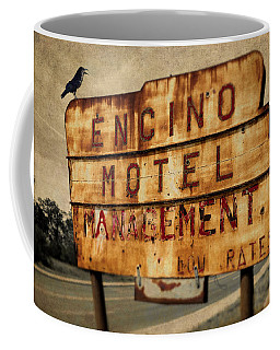Coffee Mug featuring the photograph Encino Hotel by Lou Novick