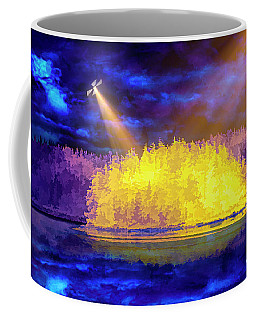 Coffee Mug featuring the photograph Encounter by Mike Braun