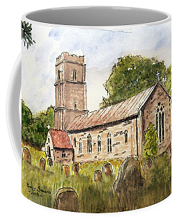 Coffee Mug featuring the painting English Chapel by Barry Jones