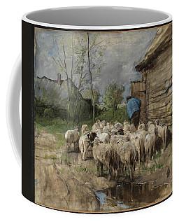 Entering The Fold Circa 1885-8 By Anton Mauve 1838-1888 Coffee Mug