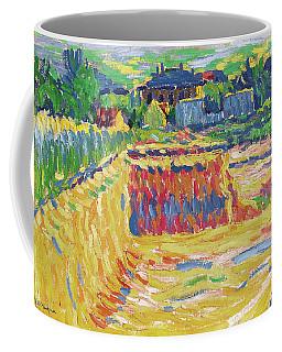 Ernst Ludwig Kirchner -aschaffenburg, 1880-frauenkirch, 1938-. The Loam Pit -ca. 1906-. Oil On Ca... Coffee Mug