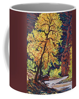 Coffee Mug featuring the painting Escalante River South Utah by Tom Roderick