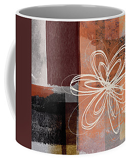 Coffee Mug featuring the mixed media Espresso Flower 1-  Art By Linda Woods by Linda Woods