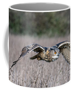 Eurasian Eagle Owl In Flight Coffee Mug