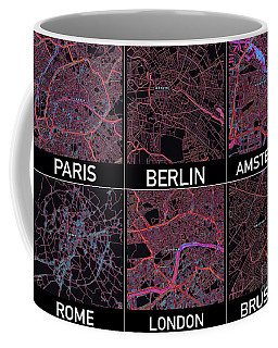 European Capital Cities Maps Coffee Mug
