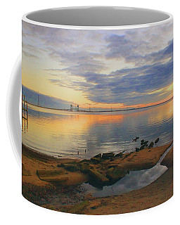 Coffee Mug featuring the photograph Evening By The James River by Ola Allen