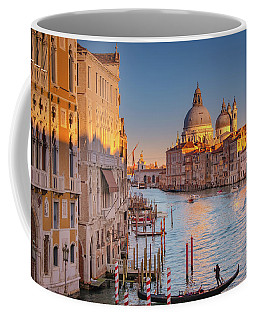 Coffee Mug featuring the photograph Evening Light In Venice by Susan Leonard