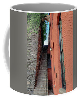 Coffee Mug featuring the photograph Exorcist Stairs Beauty by Lora J Wilson