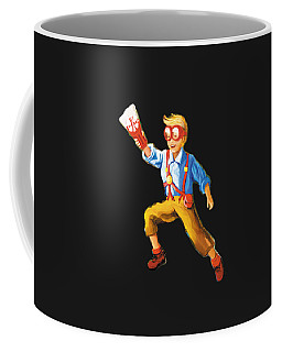 Coffee Mug featuring the painting Explorer by Donna Hall