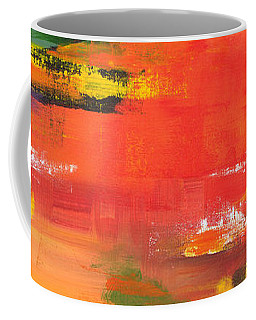 Coffee Mug featuring the painting Exploring Evening by Arttantra