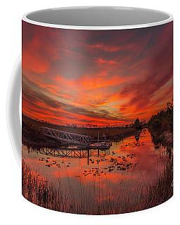 Explosive Sunset At Pine Glades Coffee Mug