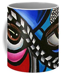 Eye Art Painting Abstract Chromatic Painting Electric Energy Artwork Coffee Mug
