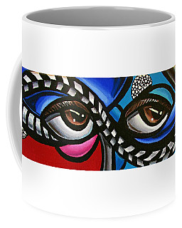 Eye Art Painting Abstract Chromatic Painting Electric Energy Artwork Coffee Mug