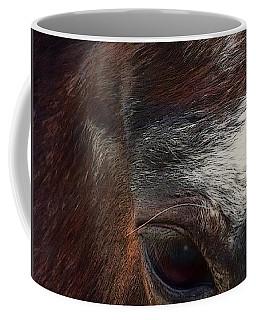 Coffee Mug featuring the digital art Eye Of A Horse  by Shelli Fitzpatrick