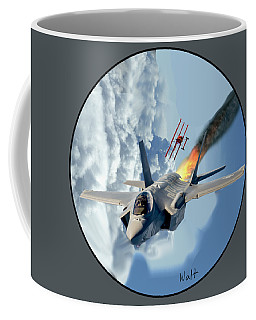 F-35 Vs The Red Baron Coffee Mug