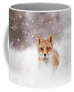 Fairytale Fox Series - Silent Fox In A Snowy Scene Coffee Mug