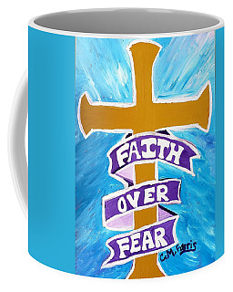Faith Over Fear Cross  Coffee Mug