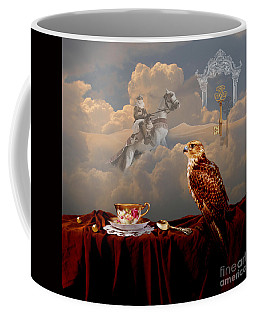 Falcon With Gold Key Coffee Mug