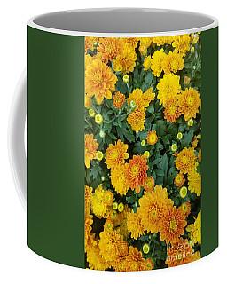 Coffee Mug featuring the photograph Fall Chrysanthemums Autumn Orange by Rachel Hannah