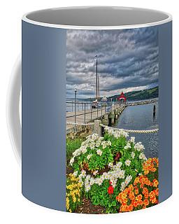Coffee Mug featuring the photograph Fall Flowers At Seneca Lake Marina by Lynn Bauer