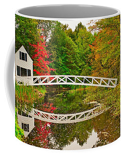 Fall Footbridge Reflection Coffee Mug