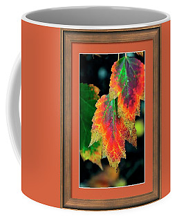 Coffee Mug featuring the photograph Fall Leaves 6072 Framed by Jerry Sodorff