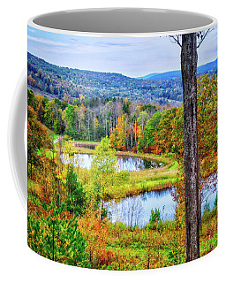 Coffee Mug featuring the photograph Fall Memories At The Ponds by Lynn Bauer