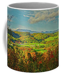 Coffee Mug featuring the photograph Fall Porch View by Meta Gatschenberger