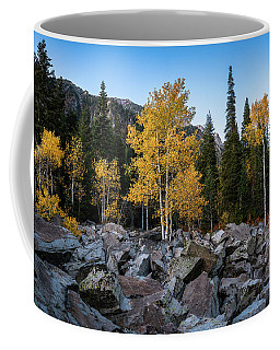 Coffee Mug featuring the photograph Fall Trees In The Rocks by James Udall