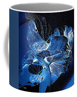 Coffee Mug featuring the photograph Fallen Leaves At Midnight by VIVA Anderson