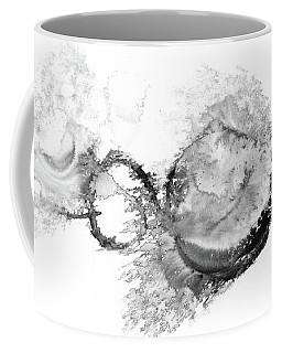 Far Far Away - Black And White Abstract Coffee Mug